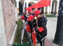 """邵陽這些""""小紅帽""""志愿者為創文助力"""