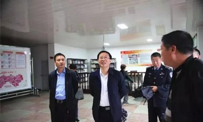 市委常委、政法委书记李志雄至邵东市调研一村一辅警